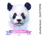 vector set of animals. panda... | Shutterstock .eps vector #264570998