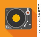 vinyl player icon with long... | Shutterstock .eps vector #264577325