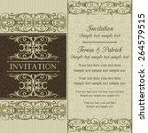 antique baroque wedding... | Shutterstock .eps vector #264579515