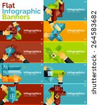 set of infographic flat design... | Shutterstock .eps vector #264583682