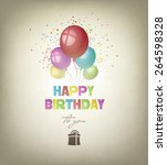 happy birthday background with... | Shutterstock . vector #264598328