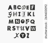 set of grunge letters   Shutterstock .eps vector #264603092
