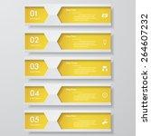 design clean number banners... | Shutterstock .eps vector #264607232