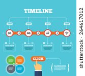 timeline with arrows and quotes.... | Shutterstock .eps vector #264617012