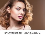 young brunette beauty over... | Shutterstock . vector #264623072