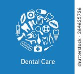 dental icons in circle | Shutterstock .eps vector #264625736