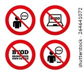 no  ban or stop signs. byod... | Shutterstock .eps vector #264641072