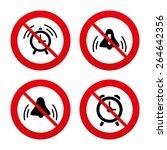 no  ban or stop signs. alarm... | Shutterstock .eps vector #264642356