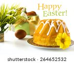 happy easter greeting card  ...   Shutterstock . vector #264652532