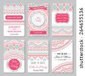 set of perfect wedding... | Shutterstock .eps vector #264655136