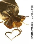 golden heart shaped necklace on ... | Shutterstock . vector #26468548