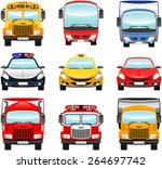 city traffic icon set. vector... | Shutterstock .eps vector #264697742