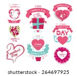 vintage vector icons logo... | Shutterstock .eps vector #264697925