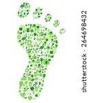 green eco friendly footprint... | Shutterstock .eps vector #264698432