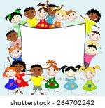 illustration of children of... | Shutterstock . vector #264702242