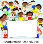 illustration of children of... | Shutterstock . vector #264702248