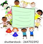 illustration of children of... | Shutterstock . vector #264702392