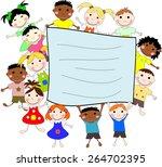 illustration of children of... | Shutterstock . vector #264702395