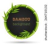 green bamboo circle frame... | Shutterstock .eps vector #264710132