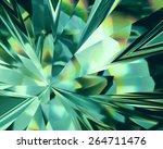 3d Abstract Emerald Green...