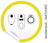 flat toilet  bidet  toilet bowl ... | Shutterstock .eps vector #264714392