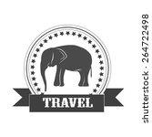 label. vintage elephant element.... | Shutterstock .eps vector #264722498