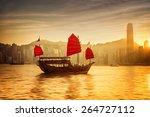 Sunset Skyline Of Hong Kong...