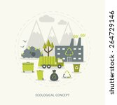 ecologic recycling and waste... | Shutterstock .eps vector #264729146