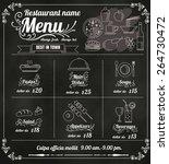 restaurant food menu design... | Shutterstock .eps vector #264730472