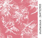 seamless floral pattern with a... | Shutterstock .eps vector #264732905