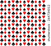 playing cards  suit. seamless... | Shutterstock .eps vector #264734012
