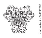 contemporary doily round lace...   Shutterstock .eps vector #264747335