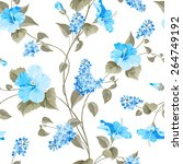 Seamless Pattern Of Syringa An...