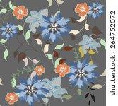 succulent plants seamless... | Shutterstock .eps vector #264752072
