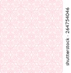 Pink Lace Floral  Pattern On A...