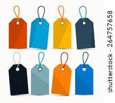 empty retro colorful vector... | Shutterstock .eps vector #264757658