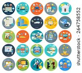 set of icons of earnings ... | Shutterstock .eps vector #264758552