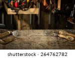 leather crafting tools on... | Shutterstock . vector #264762782