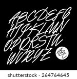 calligraphic alphabet. design... | Shutterstock .eps vector #264764645