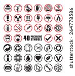 set of round packaging symbols... | Shutterstock .eps vector #264778586