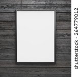 Black Frame With Blank Canvas...