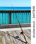 Fishing Pole On Pier