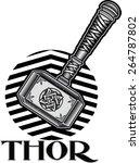 thors hammer  | Shutterstock .eps vector #264787802