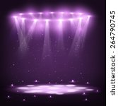stage with spotlights and spark ... | Shutterstock .eps vector #264790745