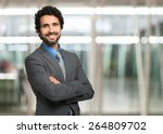 portrait of an handsome... | Shutterstock . vector #264809702