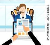curriculum vitae recruitment... | Shutterstock .eps vector #264818018