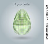 happy easter greeting banner. | Shutterstock . vector #264819425