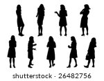 woman in high  heeled shoes...   Shutterstock .eps vector #26482756