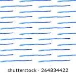 blue watercolor stripes... | Shutterstock .eps vector #264834422