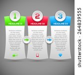 modern infographics options... | Shutterstock .eps vector #264839555